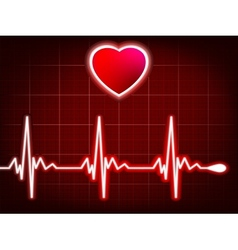 Heart beating monitor EPS 8 vector image