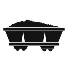 Coal trolley icon simple style vector