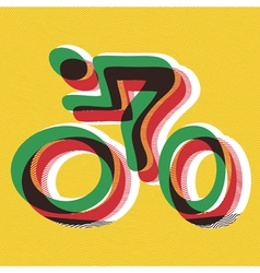 bicyclist vector image