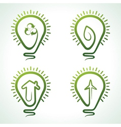 Bulb with eco concept vector