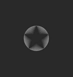 Star logo of lines geometric shape monogram vector
