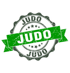 Judo stamp sign seal vector