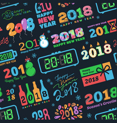 2018 new year calendar christmass logo text vector