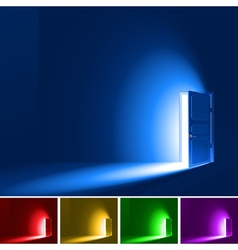 Light through a door vector