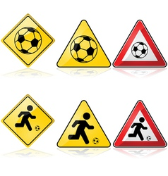 Soccer signs vector image