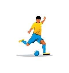 Soccer player sign vector