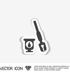 Pen with ink icon vector