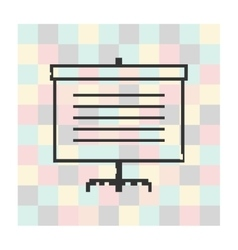 Pixel icon screen for presentations vector