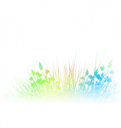 Rainbow grass vector