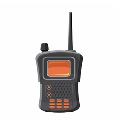 Military radio transmitter icon cartoon style vector