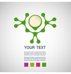 abstract green man on a white background vector image vector image
