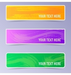 banners with brush strokes vector image