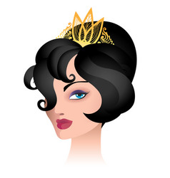 Beauty woman in tiara vector