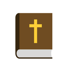 Bible flat icon vector
