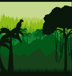 Brazilian jungle design vector