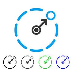 Circular area border flat icon vector