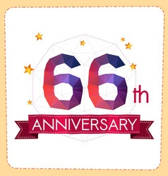 Colorful polygonal anniversary logo 2 066 vector