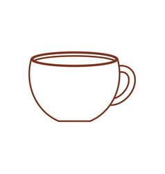 Cup coffee porcelain design vector