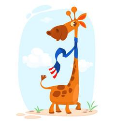 cute cartoon giraffe vector image vector image