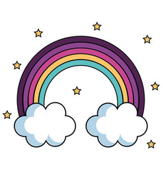 cute rainbow design vector image