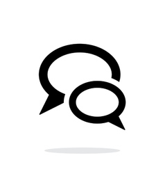 Dialogue bubble icon on white background vector image vector image