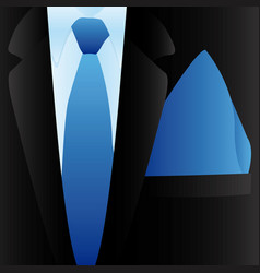 elegant suit with tie icon vector image