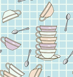 falling cups pattern vector image vector image