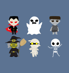 halloween cute cartoon character vector image vector image