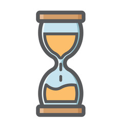 Hourglass colorful line icon business deadline vector