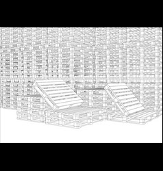 image of pallets vector image vector image