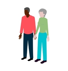 Isometric old black couple vector image