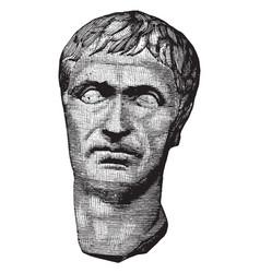 Lucius cornelius sulla felix a sculpture of the vector