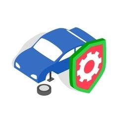 Repair machine icon isometric 3d style vector image vector image
