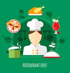 restaurant chef concept vector image vector image