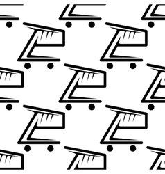 Seamless background pattern of shopping carts vector image