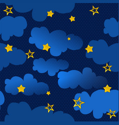 seamless texture night sky vector image vector image