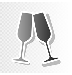 sparkling champagne glasses new year vector image