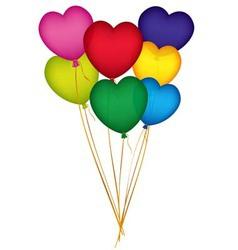Valentine Heart Balloons vector image