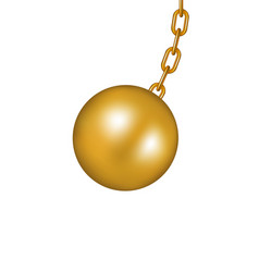 Wrecking ball in golden design vector