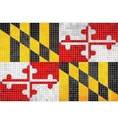 Abstract Mosaic flag of Maryland vector image