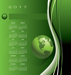 A 2017 global communications calendar vector image