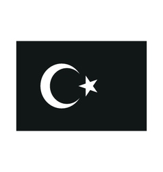 Turkey flag monochrome on white background vector
