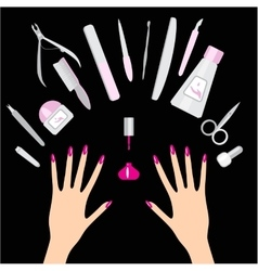 Nail and manicure vector