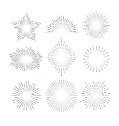 Retro sunburst radiant starburst vintage vector