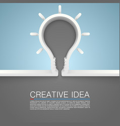 Creative idea lamp vector