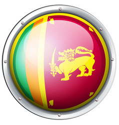 round badge for sri lanka flag vector image