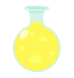 flask of luminous liquid icon cartoon style vector image