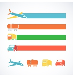 Transportation ribbons set vector
