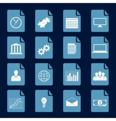 Infographic icons set vector image