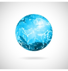 Abstract ball of blue spots vector